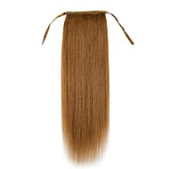 20 pouces femmes soie droite en forme de cordon -ponytail 100% extension des cheveux humains 100g usure facile