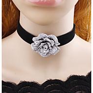 女性用 愛らしいです フラワー チョーカー  -  クラシック ブラック ネックレス 用途 カジュアル 舞台