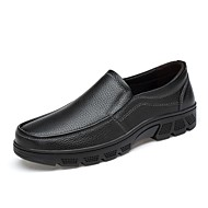 Homme Chaussures Vrai cuir Cuir Nappa Cuir Automne Hiver Confort Chaussures de plongée Mocassins et Chaussons+D6148 Pour Décontracté Noir