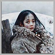 billiga Människomålningar-Hang målad oljemålning HANDMÅLAD - Människor Artistisk Modern Duk