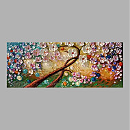 Hand-Painted Floral/Botanical Horizontal,Abstract One Panel Canvas Oil Painting For Home Decoration