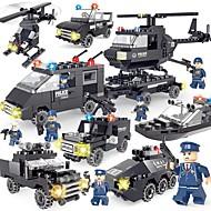 SHIBIAO Kocke za slaganje 359 pcs Jednostavan Uradi sam Policijski auto Helikopter Policajci Dječji Odrasli Dječaci Poklon Suvremena