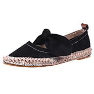 cheap Women's Flats-Women's Shoes PU Fabric Spring Summer Gladiator Comfort Light Soles Flats Flat Heel Round Toe Bowknot For Casual Dress Khaki Blushing