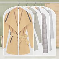 9pcs espessamento transparente vestuário saco de armazenamento malha sobretudo revestimento à prova de poeira estilo aleatório