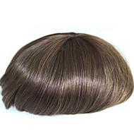 6 Inches Remy Human Hair Man Toupee Human Hair Toupee 8x10 Inches Mono Base Men Hair Piece Color #4