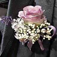 """Wedding Flowers Boutonnieres Wedding Polyester 3.94""""(Approx.10cm)"""