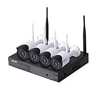 halpa -escam® wnk404 p2p 720p ulkoisen ip-kameran turvallisuus ja yö-visio plug and play wifi -järjestelmä