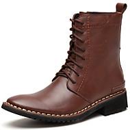 baratos Sapatos de Tamanho Pequeno-Homens Curta/Ankle Pele Napa Outono / Inverno Botas Botas Curtas / Ankle Preto / Marron / Festas & Noite