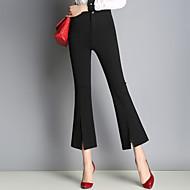 Ženske Ležerne prilike Visoki struk Mikroelastično Klasične hlače Chinos Hlače,Poliester Jednobojni Proljeće Jesen