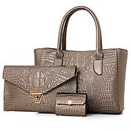 Damen Taschen PU Bag Set Blume(n) Reißverschluss für Formal Ganzjährig Blau Gold Schwarz Rote