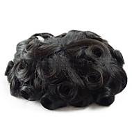 Men's HairPiece Toupee Medium Density Wig Human Hair Replacement Systems Vivid Men's Toupee Bella Basement