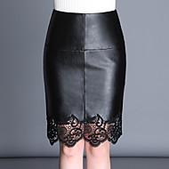 Ženske Bodycon Jednostavno Ležerno/za svaki dan Iznad koljena Suknje Čipka Jednobojni Pasti Zima