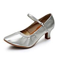 """billige Moderne sko-Dame Moderne Kustomiserte materialer Høye hæler Innendørs Kustomisert hæl Brun Sølv 2 """"- 2 3/4"""" Kan spesialtilpasses"""