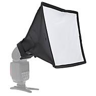 andoer 20 * 30cm / 7.9 * 11.8in bærbar fotografering flash diffuser mini softbox kit til dslr speedlite flash