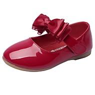 Tyttöjen kengät Tekonahka Kevät Syksy Comfort Kengät kukkaistytölle Tasapohjakengät Ruseteilla Tarranauhalla Käyttötarkoitus Häät Puku