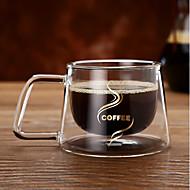 dublu strat de borosilicat de sticlă de ceașcă de ceai de cafea ceai cadou