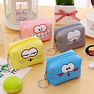 1 PC Expression Square PU Leather Change Purse Bag
