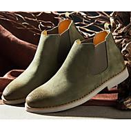 Masculino sapatos Camurça Primavera Outono Solados com Luzes Botas Para Casual Preto Cinzento Amarelo Claro Verde Tropa