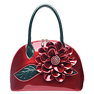 tanie Torby tote-Damskie Torby Skóra patentowa Tote Kwiat na Ślub Casual Na każdy sezon Czerwony Blushing Pink Dark Green Fuchsia Sky Blue
