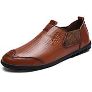 Homme Chaussures Daim Cuir Printemps Automne Confort Mocassins et Chaussons+D6148 Pour Décontracté Noir Brun claire Brun Foncé