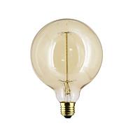 billige Glødelampe-1pc 40 W E26 / E27 / E27 G125 Varm hvit 2300 k Temperatur kontroller 220-240 V / 110-130 V