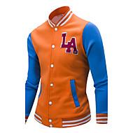 Muškarci Veći konfekcijski brojevi Vintage Sportska majica - Dungi Vezeno Kolaž, Prugasti uzorak Color block Slovo Okrugli izrez