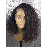 Ženy Brazilské Přírodní vlasy 360 čelní 250% Hustota Asymentrický střih Dětské vlasy Paruka Černá Krátký Střední