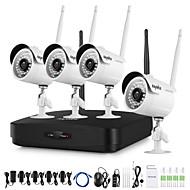 hesapli NVR Kitleri-4 adet kamera ile sannce® 1080p hd kablosuz video güvenlik sistemi