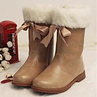 Para Meninas sapatos Micofibra Sintética PU Outono Inverno Botas de Neve Botas Para Casual Amêndoa Vinho