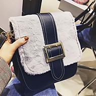 Χαμηλού Κόστους Fur Bags-Γυναικεία Τσάντες Γούνα Tote Φερμουάρ για Ψώνια Causal Όλες οι εποχές Μαύρο Γκρίζο Χακί