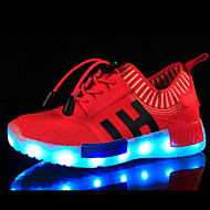 Boys' Shoes Breathable Mesh Spring Fall Light Up Shoes Comfort Novelty Sneakers LED Lace-up For Casual Outdoor Blue Red Black