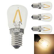 2W E14 Bec Filet LED G60 2 led-uri COB Decorativ Alb Cald 150-200lm 3000K AC 220-240V