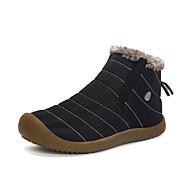 billige Sko i Store Størrelser-Herre sko Lær Vinter Høst Snøstøvler Støvler Tursko Ankelstøvler Kombinasjon til Avslappet Svart Mørkeblå Kakifarget