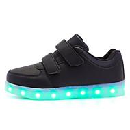 Para Meninas sapatos Couro Ecológico Outono Inverno Conforto Tênis Para Casual Branco Preto