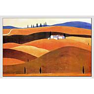 halpa -Maalattu Maisema Vaakatasoinen panoraama Kangas Hang-Painted öljymaalaus Kodinsisustus 1 paneeli