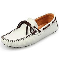 メンズ 靴 ナパ革 秋 冬 モカシン ボート用シューズ 用途 カジュアル パーティー ホワイト ブラック Brown