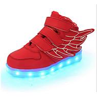 tanie Obuwie chłopięce-Dla chłopców Obuwie Skóra Wiosna / Jesień Wygoda / Nowość / Świecące buty Adidasy Tasiemka / LED na Czerwony / Zielony / Niebieski