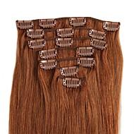 Com Presilha Extensões de cabelo humano Alta qualidade Clássico Mulheres Diário