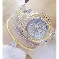billige Quartz-Dame Modeur Unik Creative Watch Diamantbelagt ur Japansk Quartz 30 m Afslappet Ur Rustfrit stål Bånd Analog Vedhæng Sølv / Guld - Guld Sølv Guld / Sølv