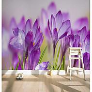 Mønster 3D Blomst Tapet til Hjemmet Rustikk Tapetsering , Lerret Materiale selvklebende nødvendig Veggmaleri , Tapet