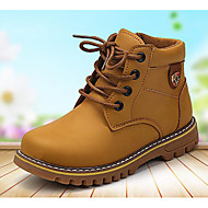 Boys' Shoes Synthetic Microfiber PU Fall Winter Comfort Combat Boots Boots For Casual Yellow Black