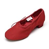 Dame Jazz Lerret Trening Tykk hæl Rød 3,5 cm Kan spesialtilpasses