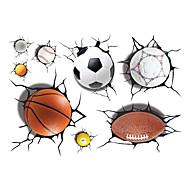billiga Väggklistermärken-Former 3D Sport Väggklistermärken Väggstickers i 3D 3D,Vinyl Material Hem-dekoration vägg~~POS=TRUNC