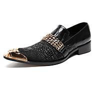Muške Cipele Prava koža Mekana koža Proljeće Jesen Udobne cipele Inovativne cipele svečane cipele Natikače i mokasinke Zakovica Za