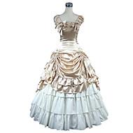 Tek-parça/Elbiseler Sweet Lolita Klasik/Geleneksel Lolita Ortaçağ Rönesans Victoria Style Cosplay Lolita Elbiseler Altın Lolita Kolsuz