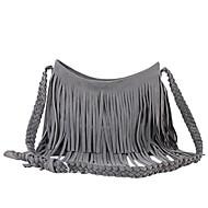 cheap Bags-Women Bags Suede Crossbody Bag Zipper for Casual All Seasons Camel Gray