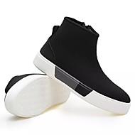 olcso -Férfi cipő Szövet Tavasz Ősz Katonai csizmák Csizmák Cipzár Kompatibilitás Hétköznapi Fekete Piros