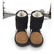 男の子 靴 レザー 秋 冬 スノーブーツ ブーツ 用途 カジュアル ブラック/レッド アーモンド