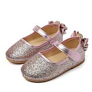 Tyttöjen kengät Paljetti Kevät Syksy Comfort Tasapohjakengät Käyttötarkoitus Kausaliteetti Kulta Hopea Pinkki