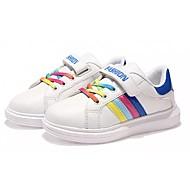 baratos Sapatos de Menino-Para Meninos Sapatos Borracha Outono / Inverno Conforto Tênis Cadarço para Branco / Branco e Verde / Azul Real